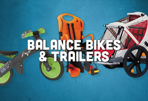 Balance Bikes, Child Seats & Trailers