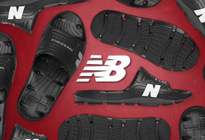 $7.95 New Balance Drain & Float Slides