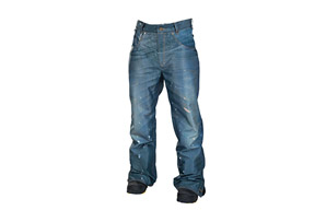 686 Reserved Destructed Denim Insulated Pants - Mens