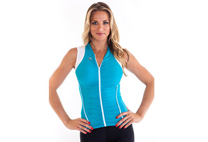 Alii Lifestyle Beatriz Sleeveless Ruched Bike Jersey - Women's