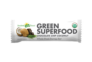 Amazing Grass Chocolate Chip Coconut Green Energy Bars - Box of 12