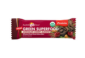 Amazing Grass Chocolate Cherry Almond Protein Green Energy Bars - Box of 12