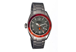 Bull Titanium Hereford Carbon Fiber Dial Design Bracelet Watch