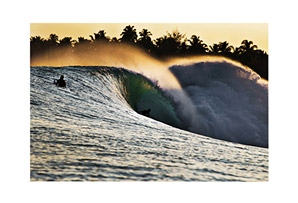 Canvas Wave Ticket to Ride Print