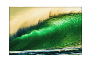 Canvas Wave Pipe by Bryce Johnson Canvas Gallery Wrap