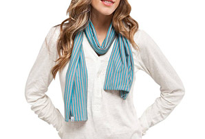 Carve Designs Paris Striped Scarf - Wms