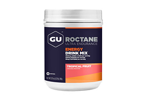 GU Roctane Tropical Fruit Energy Drink Mix Canister w/Caffeine - 12 Servings