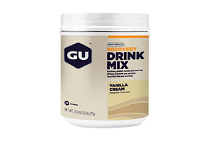 GU Vanilla Cream Recovery Drink Mix Canister - 15 Servings