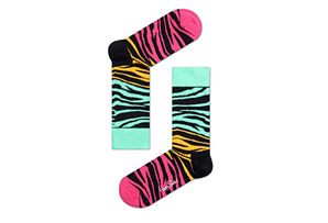 Happy Socks Block Zebra Socks - Unisex