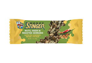 Honey Stinger Nuts, Seeds and Roasted Serrano Snack Bar - Box of 15
