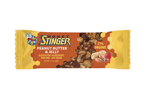Honey Stinger Peanut Butter and Jelly Snack Bar - Box of 15