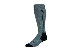 Hot Chillys Black Heather Hot Sock - Mens