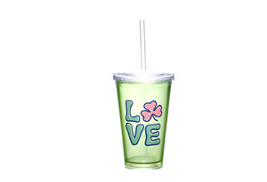 Life is Good Shamrock Love Cup & Straw