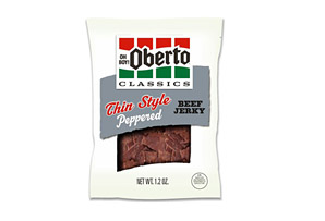 Oberto Peppered 1.2oz Thin Style Beef Jerky - Box of 8
