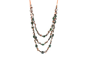 Ocean Exotics 'Lush Green' Dangling Necklace