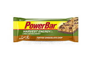 PowerBar Harvest Energy Bar - Toffee Chocolate Chip - Box of 15