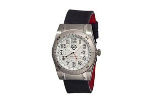 Shield Nuno Pro Diver Leather Strap Watch - Men's