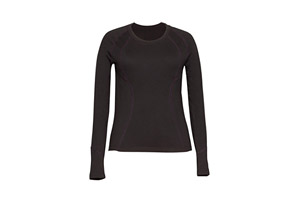 Terramar Grid Fleece Scoop Neck - Wms