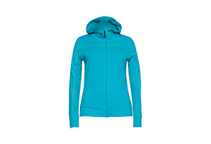Terramar Grid Fleece Full Zip Hoodie - Wms