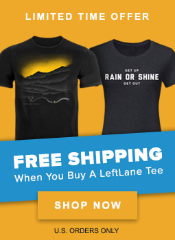 Limited Time Offer: FREE SHIPPING When You Buy a LeftLane Tee - U.S. Orders Only - Shop Now