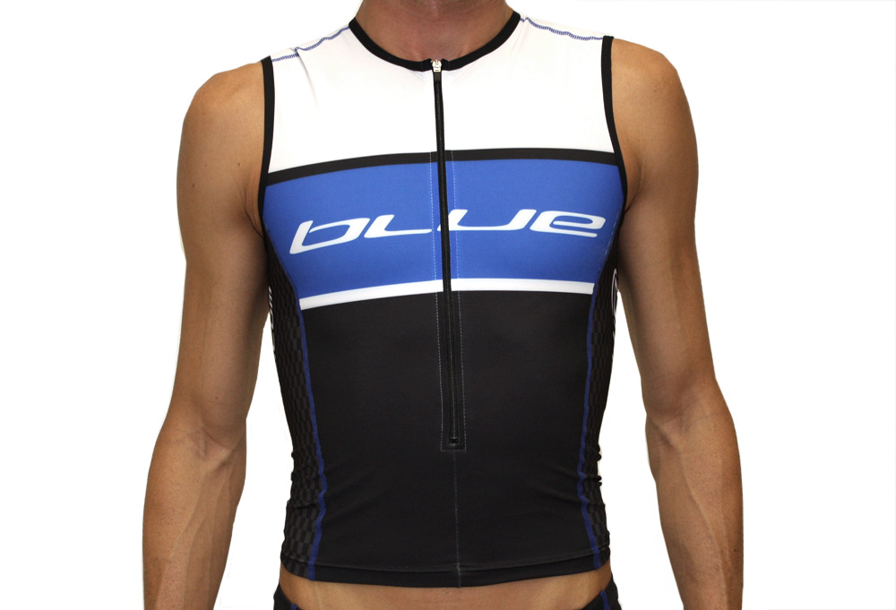 Blue Competition Cycles Tri Top