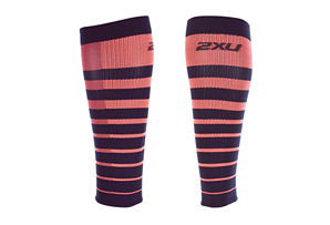 2XU Striped Run Comp Calf Sleeves