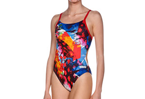 Arena Abstract Challenge Back One Piece - Women's
