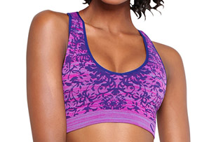 Climawear Seamless V-Neck Cross Dye Bra