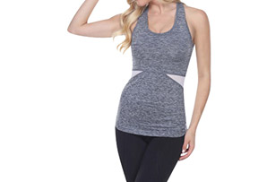 Electric Yoga Key Hole w/ Mesh Workout Top - Women's