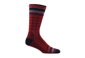 Farm to Feet Portland Box Plaid Lightweight Crew Socks