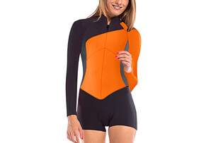 Vibrant Stripes 2 MM Long Sleeve Springsuit - Women's