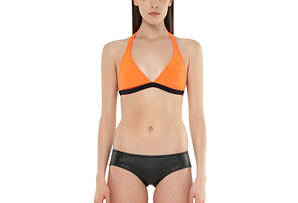 Vibrant Stripes Halter Neck Bikini Top - Women's