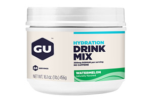 GU Watermelon Hydration Drink Mix Canister- 24 Servings