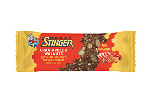 Honey Stinger Cran-Apple and Walnut Snack Bar  - Box of 15