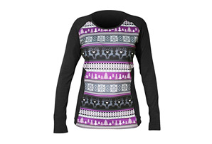 Hot Chillys MTF Sub Print Scoop Long Sleeve - Women's