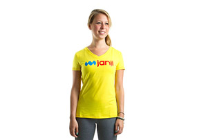 Janji Logo Short Sleeve Shirt - Womens