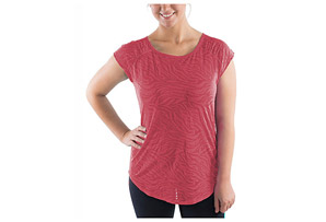 Katie K Active Open Back Burnout Tee - Women's