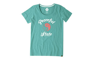 Life is Good Peaceful State Scoop Tee - Women's