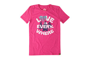 Life is Good Short Sleeve Love is Everywhere Cool Tee - Women's