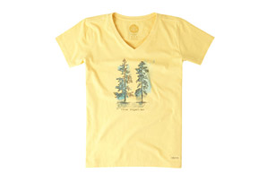 Life is Good Short Sleeve Come Together Trees Crusher Vee Shirt - Women's