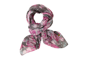 Life is Good Square Wallpaper Floral Scarf - Women's