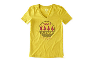Life is Good Trees Please Circle Cool Vee - Women's