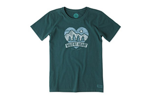 Life is Good Wild At Heart Banner Crusher Tee - Women's