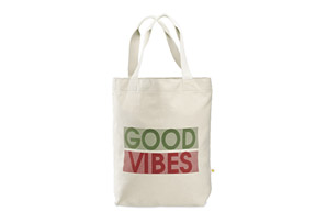 Life Is Good Good Vibes Messaging Tote