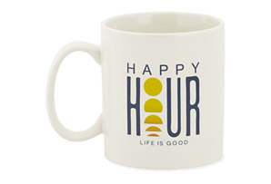 Life Is Good Happy Hour Sunset Mug
