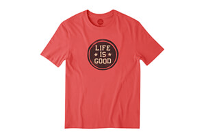 Life is Good LIG Stamp Smooth Tee - Men's