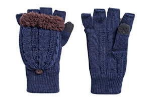 MUK LUKS Cable Flip Mittens