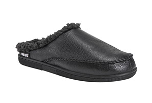 Faux Leather Clog Slippers - Men's
