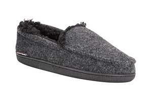 Faux Wool Moccasin Slippers - Men's
