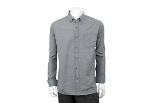 Cross Hatch Button Up Long Sleeve - Men's